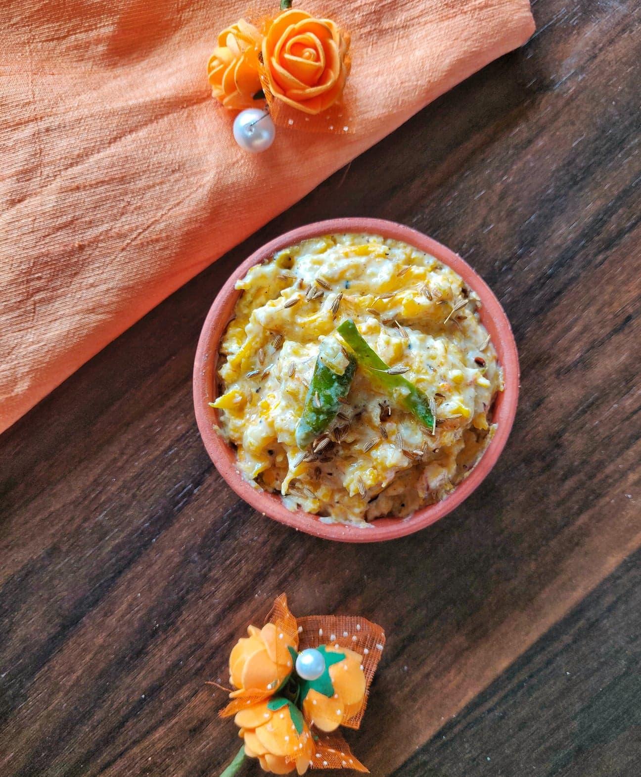 Red Pumpkin Bharit ( Lal Bhoplyacha Bharit)